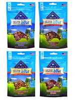 Blue Pack Buffalo Treats Bits Dog Treats Pouches, 4 Pack Flavors (Savory Salmon, Tasty Chicken, Tender Beef and Tempting Turkey), 4 oz.