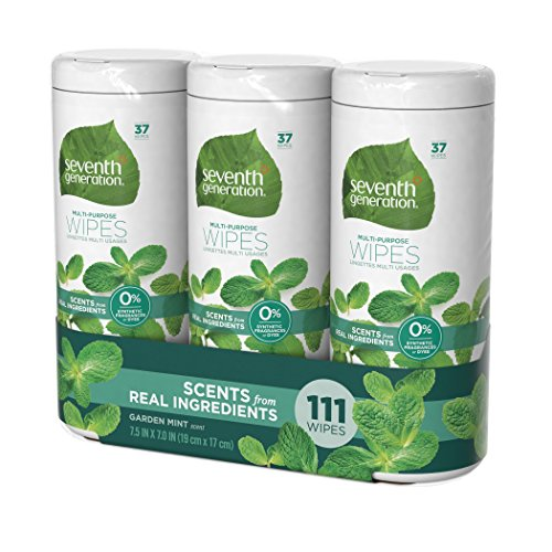Seventh Generation Multi-Purpose Wipes, Garden Mint, 111 Count