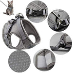 GAUTERF Adjustable Kitten/Ferret/Small Dog Padded Harness & Leash