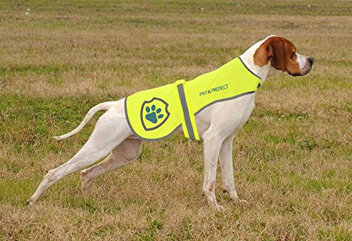 Premium Dog Reflective Vest (Neon) High-Visibility Safety Vest for Small, Medium, Large Breeds