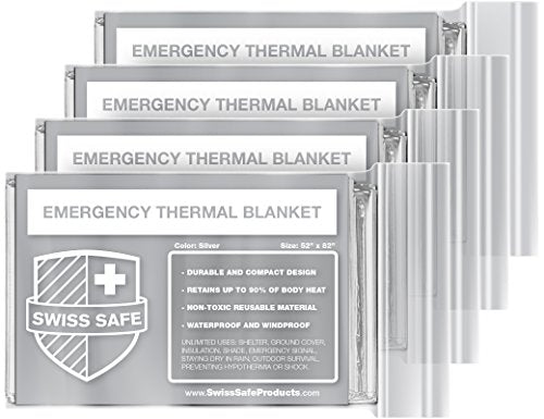 Swiss Safe - Emergency Mylar Thermal Blankets