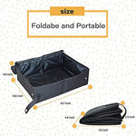 Petleader Collapsible Portable Cat Litter Box