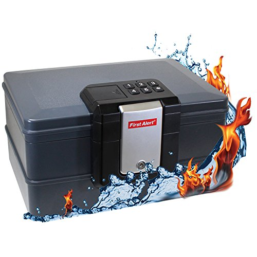 First Alert Waterproof Fire Chest with Digital Lock