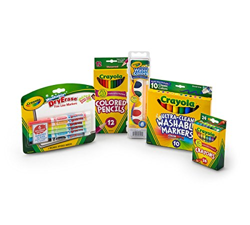 Crayola Back to School Pack, Contains 5 Items in Pack, Assorted Count Packs