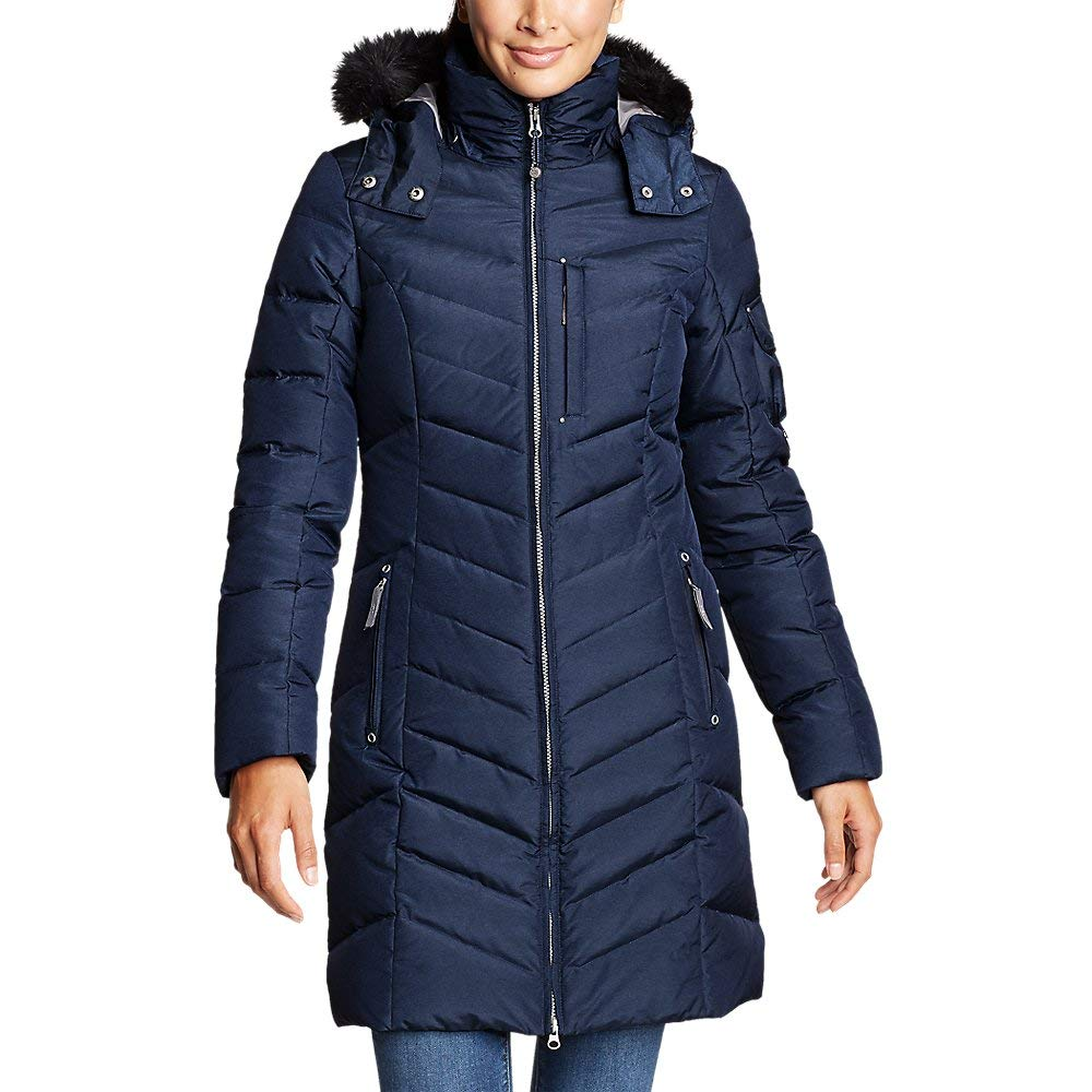 Eddie Bauer Women's Sun Valley Down Parka, Navy Regular L Regular