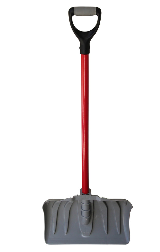 "TABOR TOOLS J219A 18"" Blade Snow Pusher with Fiberglass Handle, Snow Shovel with Comfortable D-Grip 35"" Handle (Snow Pusher)"