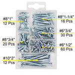 T.K.Excellent Phillips Flat Head Wood Screws Kit,150 Pieces