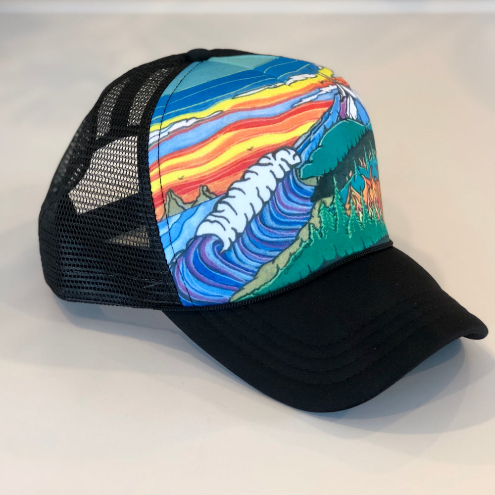 Coast to Mt. Hood Trucker Hat