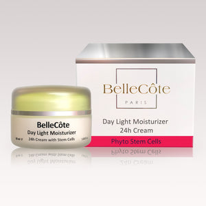 Day Light Moisturizer - 24h Cream with Stem Cells 50ml - BelleCôte Paris
