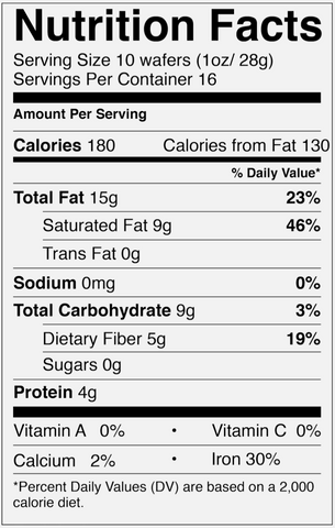 Ceremonial Cacao Nutrition Facts