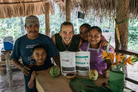 Belize cacao farmers and family