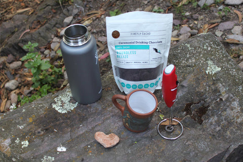 Organic Ceremonial Cacao Camping Frother Thermos