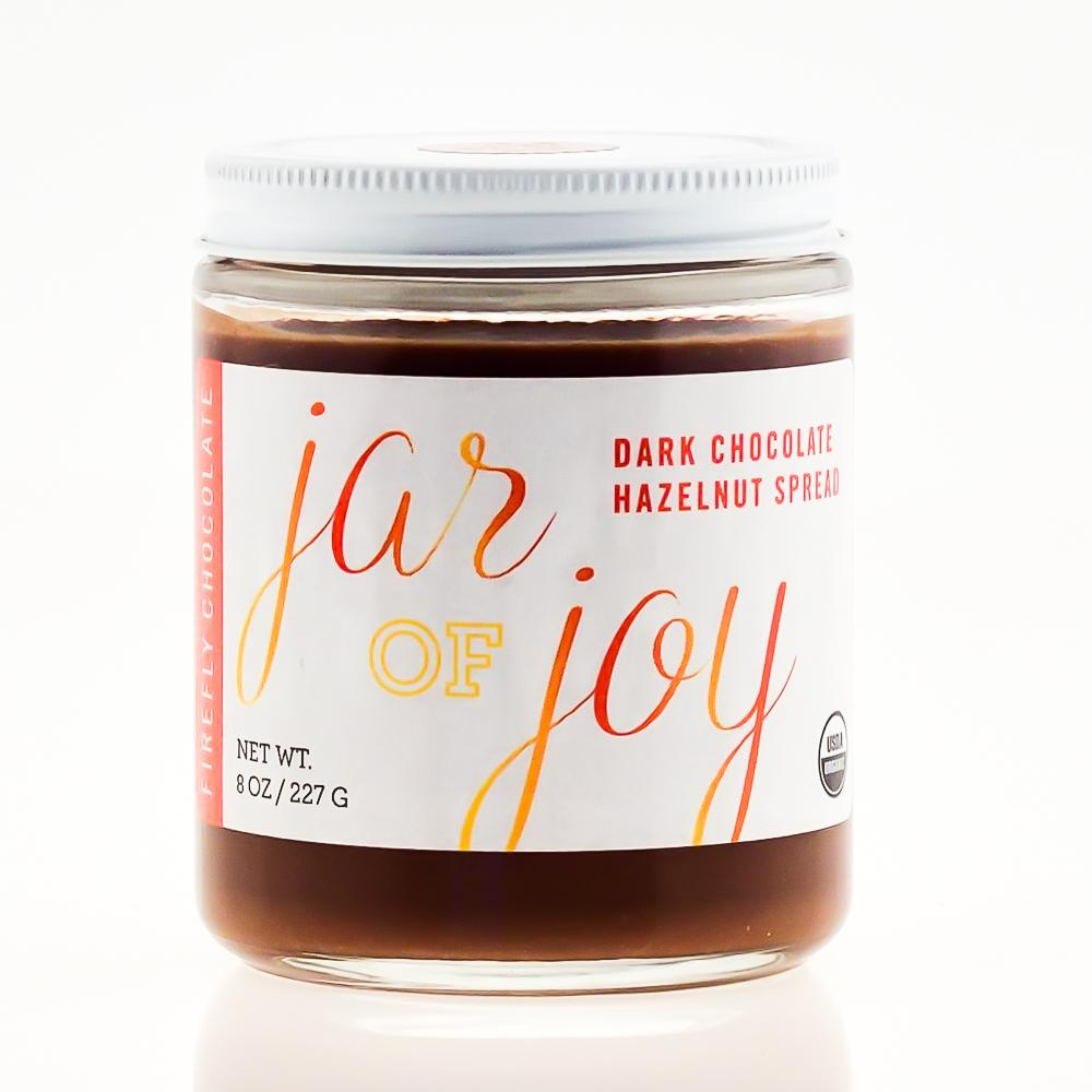 Dark Chocolate Hazelnut Spread for Cacao Ceremony and Holistic Health by FireflyChocolate