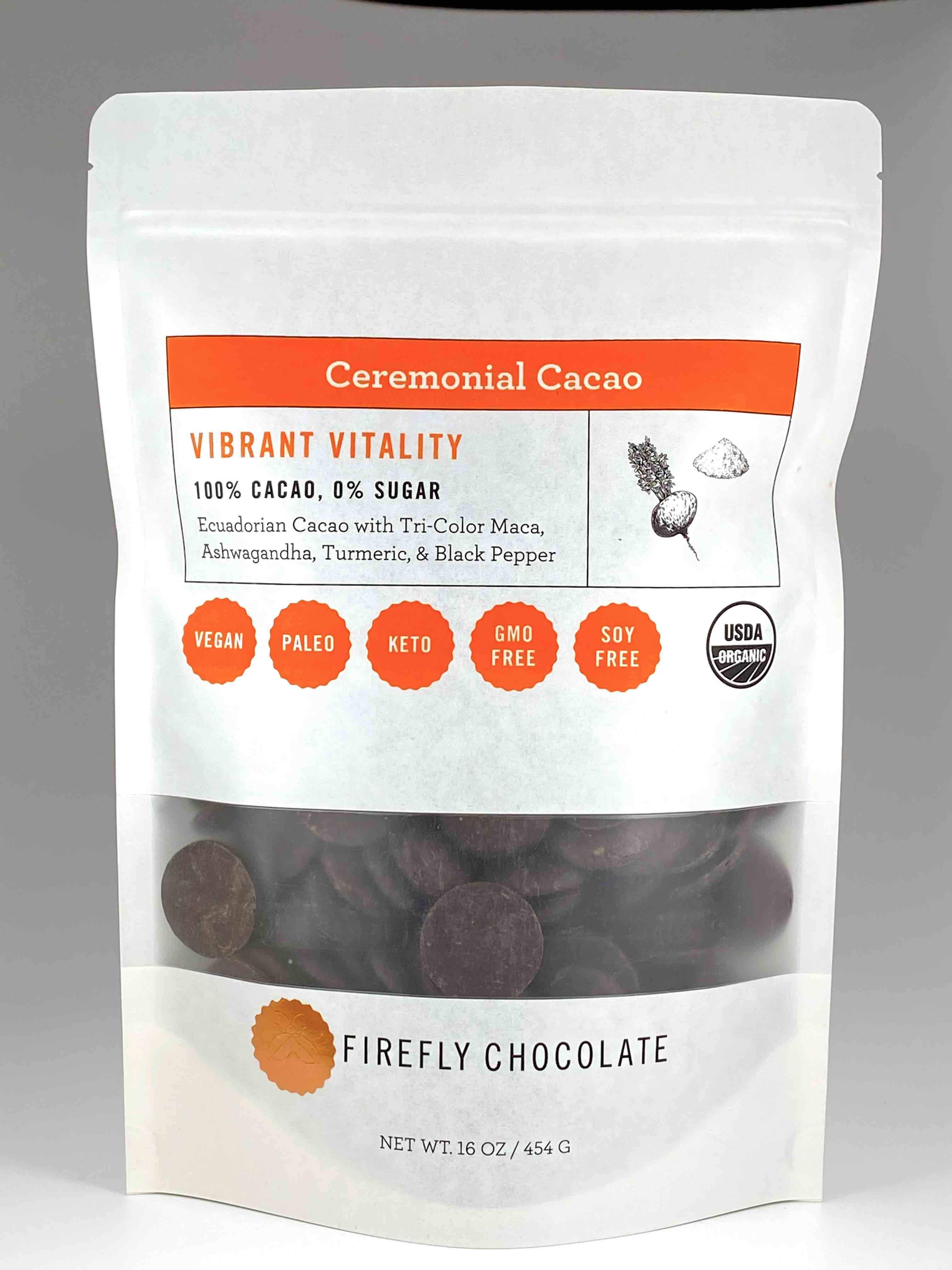 Image of Vibrant Vitality 100% Ceremonial Cacao Drink
