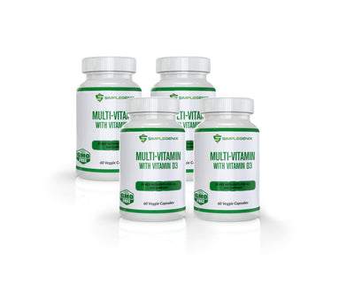 Multi Vitamin with Vitamin D3 - 4 Bottles