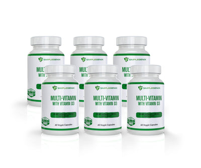 Multi Vitamin with Vitamin D3 - 6 Bottles