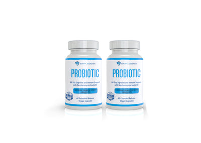 Pur Flora - Prebiotic and Probiotic with Aguave Inulin and 9 bacterial strains - 4 Bottles