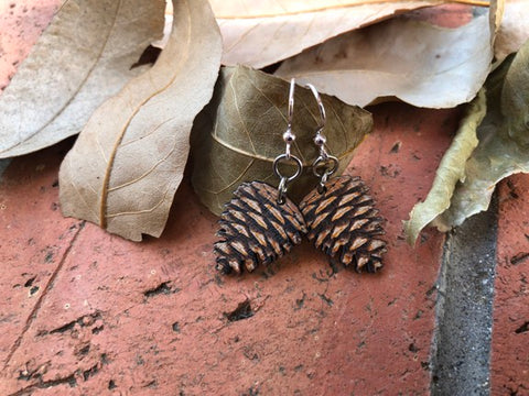 Pine Cone Earrings