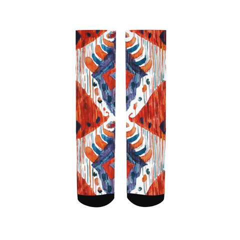 Red Crush ikat Women's Socks