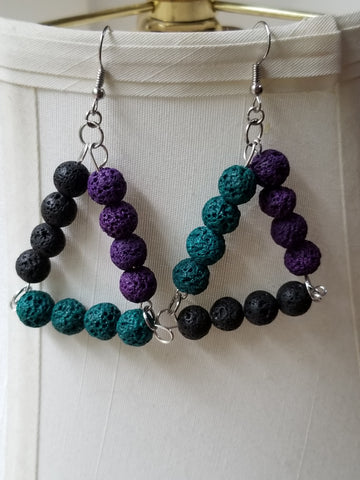 Lave Bead Earrings