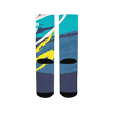 Abstract Blue Men's Socks