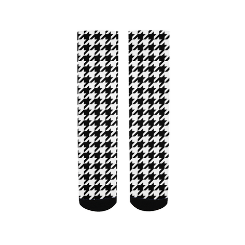 BLACK & WHITE HOUNDSTOOTH Men's Socks