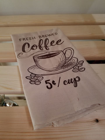 Embroidered Coffee Towel
