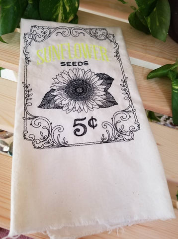 Embroidered Seed Towels