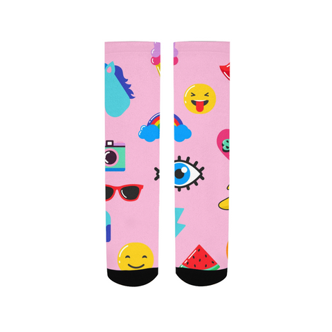 kids Patterns pink Women's Socks