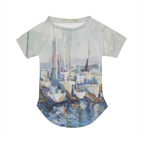 Oil painting boat Doggie Tee