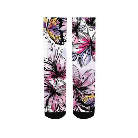 Butterflies &  flowers Women's Socks