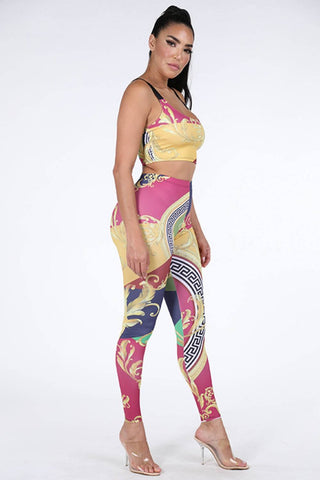 Printed Top & Leggings Set