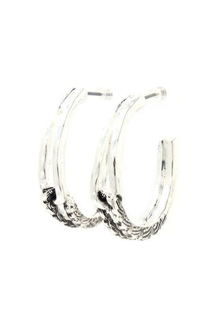 Metal Open Circle Drop Earring