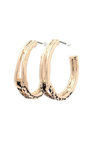 Filigree Open Circle Drop Earring