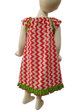 Red Chevron Dress size 3T