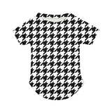 BLACK & WHITE HOUNDSTOOTH Doggie Tee