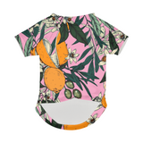 Olives among the orange flowers pink Doggie Tee