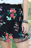 FLORAL FLEEK SHORT SKIRT