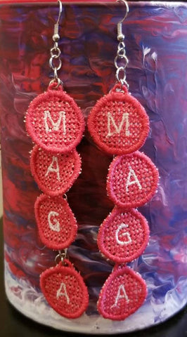 MAGA Dangle Embroidered Earrings
