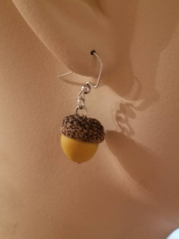 Clay Acorn Earrings