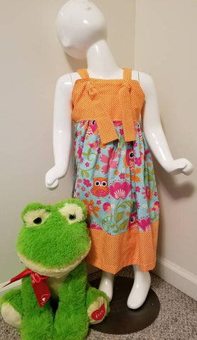 Owl Print Knot Dress 5T