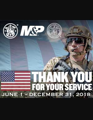 SMITH & WESSON THANK YOU FOR YOUR SERVICE PROMO