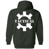Tactical Swagg Logo Pullover Hoodie, White/Back-Sweatshirts-CustomCat-Tactical Swagg