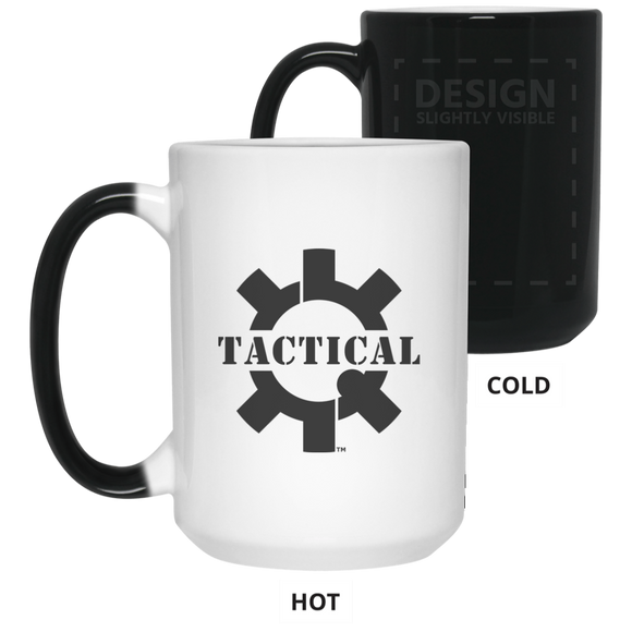 Tactical Swagg Logo Color Changing Coffee Cup/Mug, 15oz-Drinkware-CustomCat-Tactical Swagg