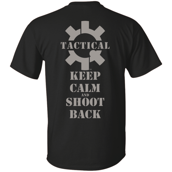 Tactical Keep Calm and Shoot Back Short Sleeve T-Shirt, UDE Print on Back-T-Shirts-CustomCat-Tactical Swagg