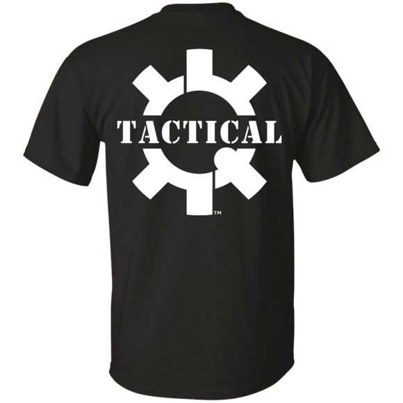 Tactical Swagg Logo Short Sleeve T-Shirt, White Print on Back-T-Shirts-CustomCat-Tactical Swagg