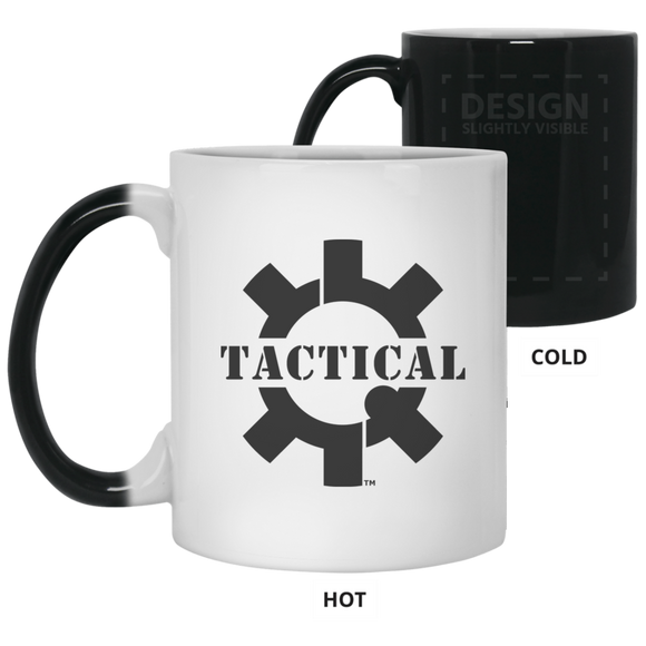 Tactical Swagg Logo Color Changing Coffee Cup/Mug, 11oz-Drinkware-CustomCat-Tactical Swagg