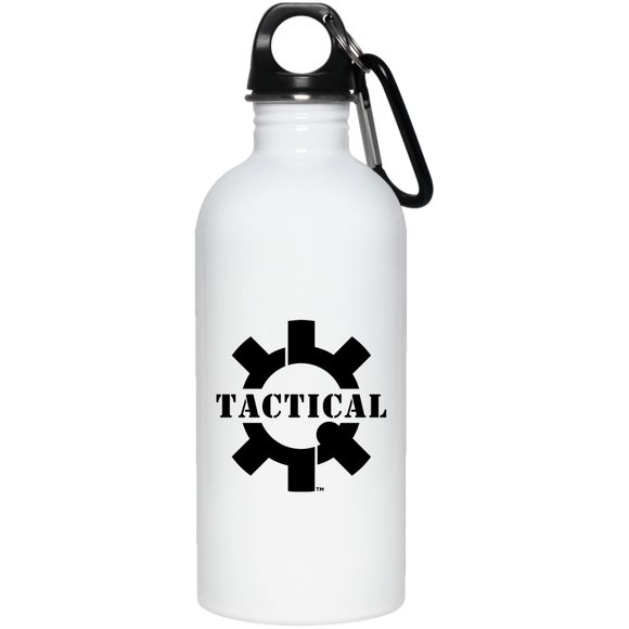 Tactical Swagg Black Logo 20 oz. Stainless Steel Water Bottle-Drinkware-CustomCat-Tactical Swagg