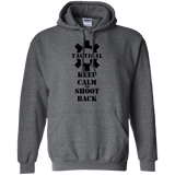 Tactical Keep Calm and Shoot Back Pullover Hoodie, Black/Front-Sweatshirts-CustomCat-Tactical Swagg