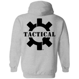 Tactical Swagg Logo Pullover Hoodie, Black/Back-Sweatshirts-CustomCat-Tactical Swagg